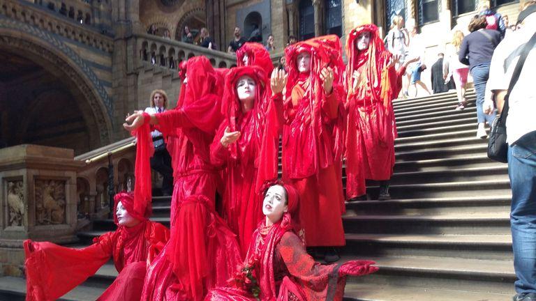 Image result for extinction rebellion red robes