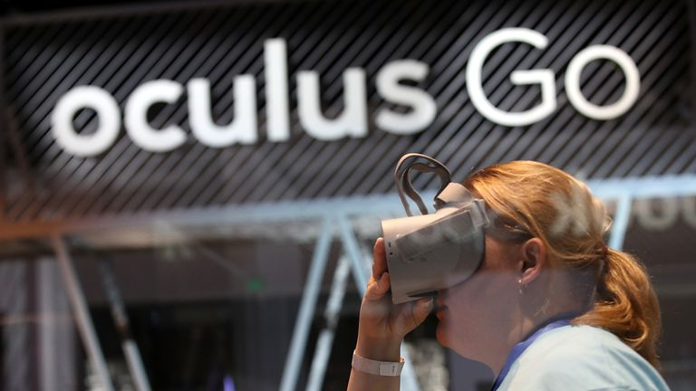 SAN JOSE, CA - MAY 01: Attendees use the Oculus Go VR headset during the F8 Facebook Developers conference on May 1, 2018 in San Jose, California. Facebook CEO Mark Zuckerberg delivered the opening keynote to the FB Developer conference that runs through May 2. (Photo by Justin Sullivan/Getty Images)