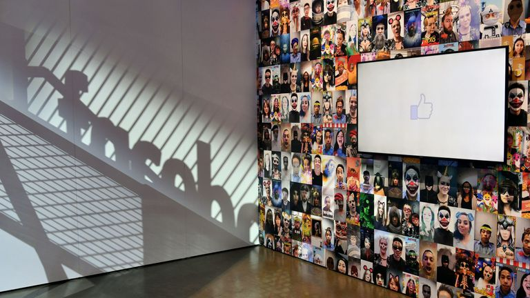 A display area is seen during the annual F8 summit at the San Jose McEnery Convention Center in San Jose, California on May 01, 2018. - Facebook chief Mark Zuckerberg announced the world's largest social network will soon include a new dating feature -- while vowing to make privacy protection its top priority in the wake of the Cambridge Analytica scandal. (Photo by JOSH EDELSON / AFP) (Photo credit should read JOSH EDELSON/AFP/Getty Images)