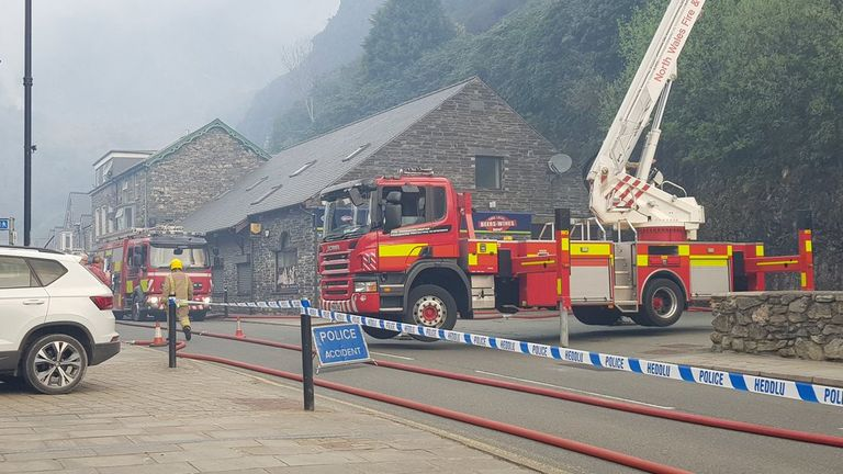 Fire services sent four engines and a ladder platform to the fire