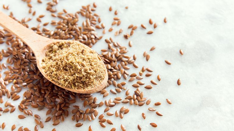 Ground flaxseed is a good source of plant-based omega-3's