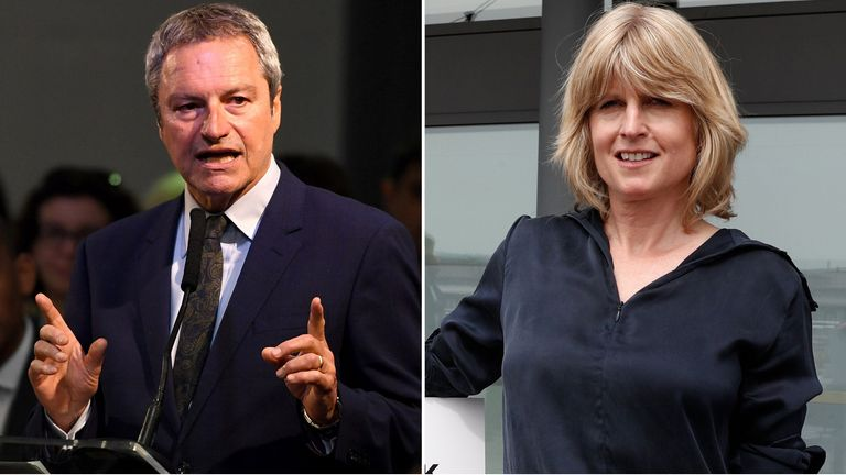 Gavin Esler and Rachel Johnson