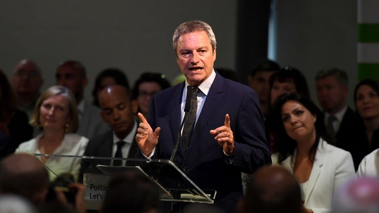 BRISTOL, ENGLAND - APRIL 23: Gavin Esler at the launch of The Independent Group European election campaign at We The Curious on April 23, 2019 in Bristol, England. With a high probability that Britain will take part in the European Union elections due to the Brexit deadline extended up to October 31, 2019, The Independent Group has announced that Rachel Johnson and Gavin Esler will stand as candidates for the anti-Brexit party. (Photo by Finnbarr Webster/Getty Images)