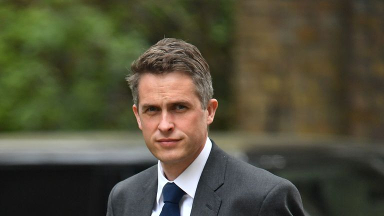 Defence Secretary Gavin Williamson