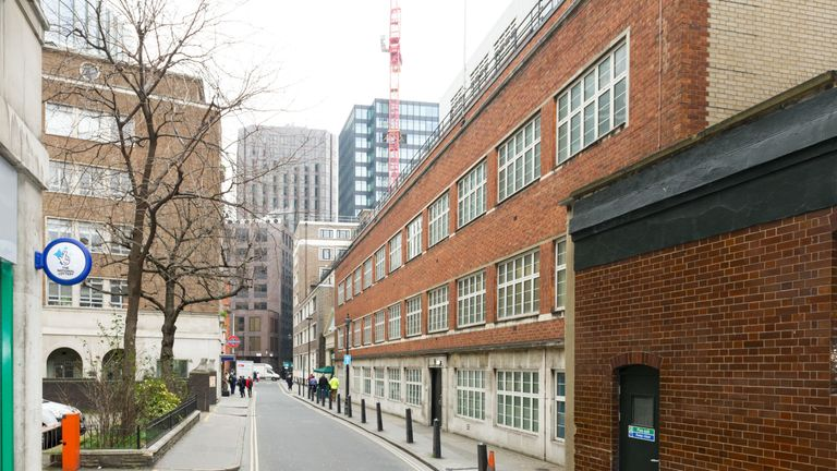 Undated handout photo issued by GCHQ of its former offices in Palmer street, Westminster, London where, unknown to the public, intelligence officers have worked to protect national security since 1953.