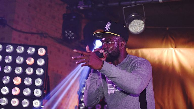 performs at Ghetts' and Rude Kid's #SixFiveThree EP launch supported by Relentless at The Laundry on November 18, 2015 in London, England.
