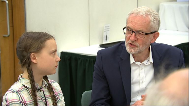 MPs including Caroline Lucas, Vince Cable, Ian Blackford and Jeremy Corbyn met young climate activist Greta Thunberg