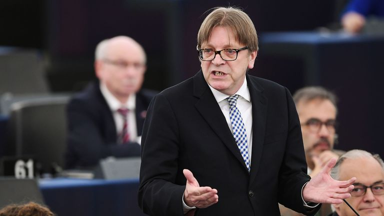 Brexit coordinator for European parliament Guy Verhofstadt speaks