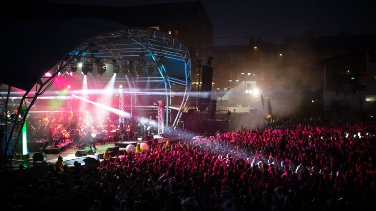 Hacienda Classical play at the Castlefield Bowl as part of Sounds of the City  1 Jul 2017