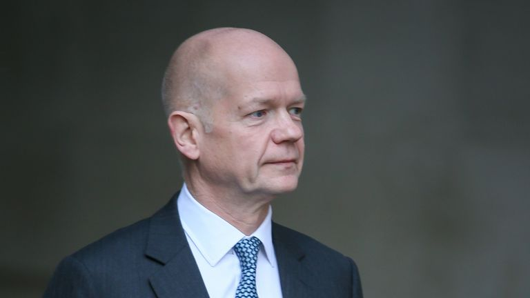 """Lord Hague says there is an """"immense danger"""" an election would tear the Tory party apart"""