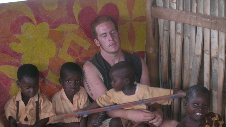 Harry was working at a school in Ghana when he contracted malaria. Pic: Malaria No More