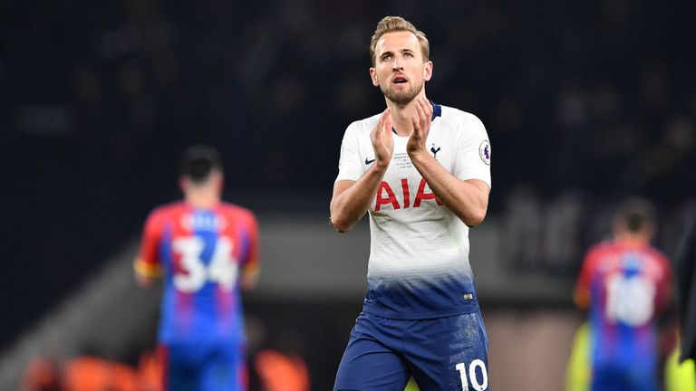 Harry Kane pictured during Tottenham's 2-0 win over Crystal Palace in the first game at the new stadium
