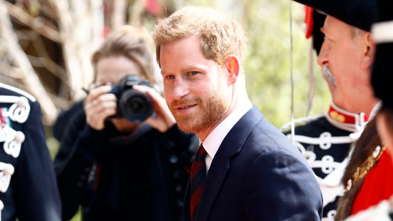 LONDON, ENGLAND - APRIL 04: Prince Harry, Duke of Sussex arrives at The Guildhall on April 04, 2019 in London, England. The Duke of Sussex attended the twelfth annual Lord Mayor's Big Curry lunch in aid of three national charities: ABF The Soldiers' Charity, the Royal Navy and Royal Marines Charity and the Royal Air Force Benevolent Fund. (Photo by John Phillips/Getty Images)