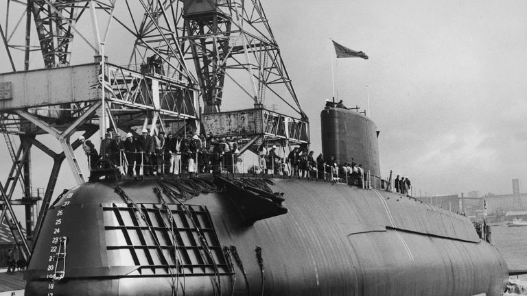 UK's decommissioned nuclear submarines kept in storage for