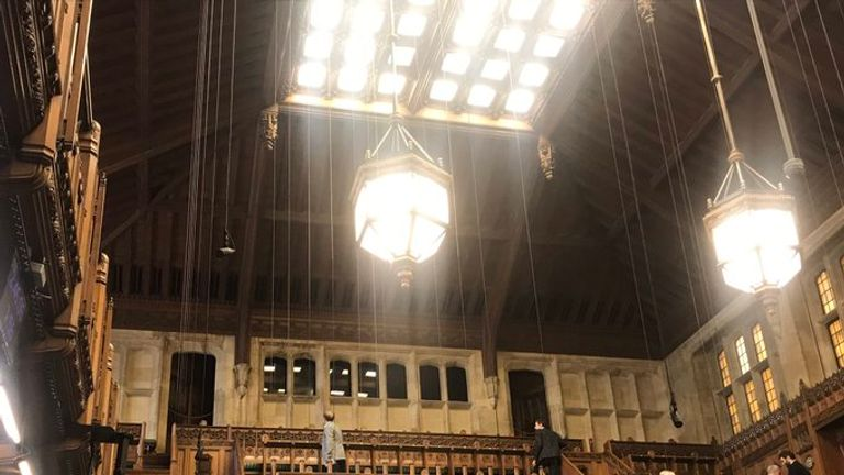 The House of Commons roof began leaking. Pic: Ross Thomson MP