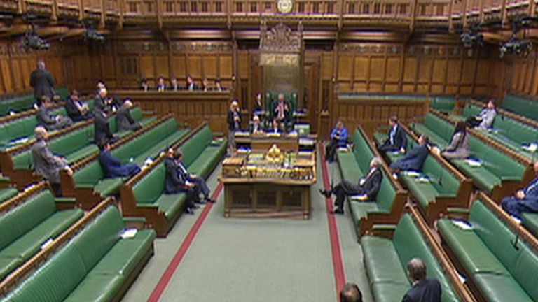 Speaker suspends sitting of the Commons becuase the roof is leaking
