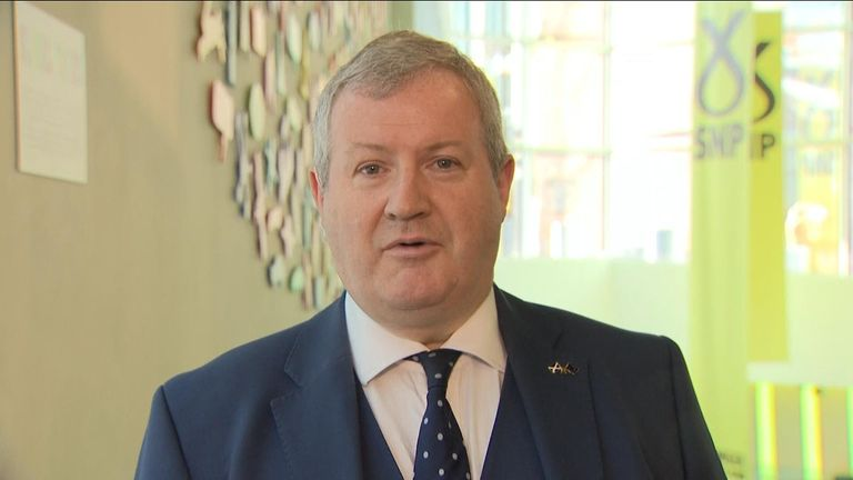 """Ian Blackford says it is not appropriate to have a state banquet for President Trump because of his """"racist"""" behaviour."""