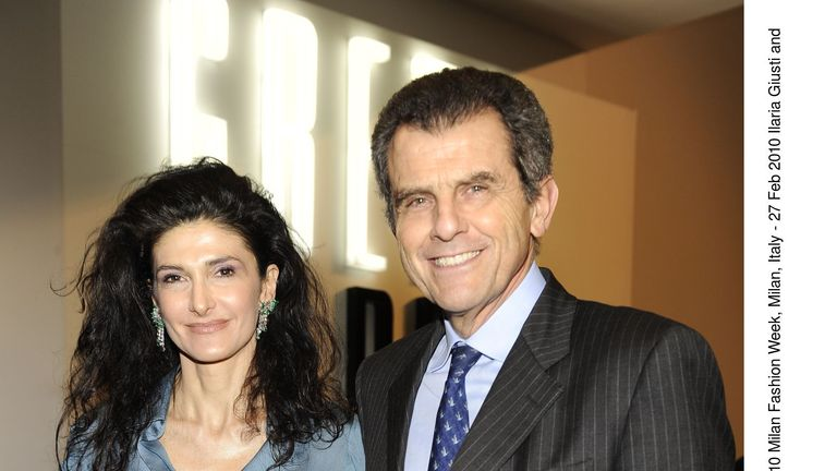 Ilaria Giusti and Ferruccio Ferragamo at the Autumn\Winter Milan Fashion Week in 2010. Pic: Rex Features/Spg/Shutterstock