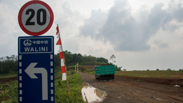 Land where the Jakarta-Bandung high-speed rail was due to be constructed in Bandung, West Java