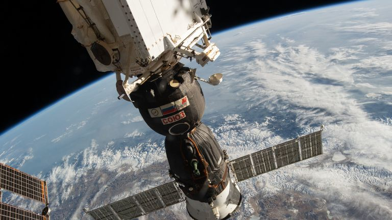 The International Space Station is stationed more than 250 mils above the Earth. Pic: NASA