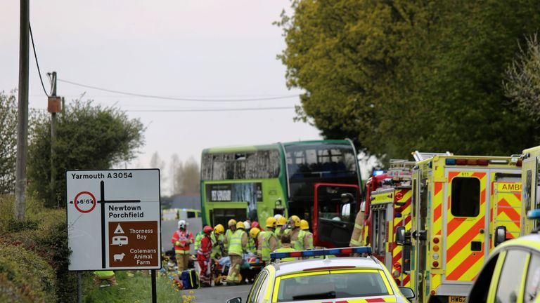 At least 25 casualties reported in Isle of Wight crash