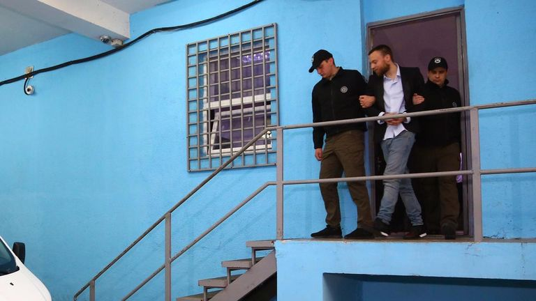 Jack Shepherd turned himself in to a police station in Tbilisi in January