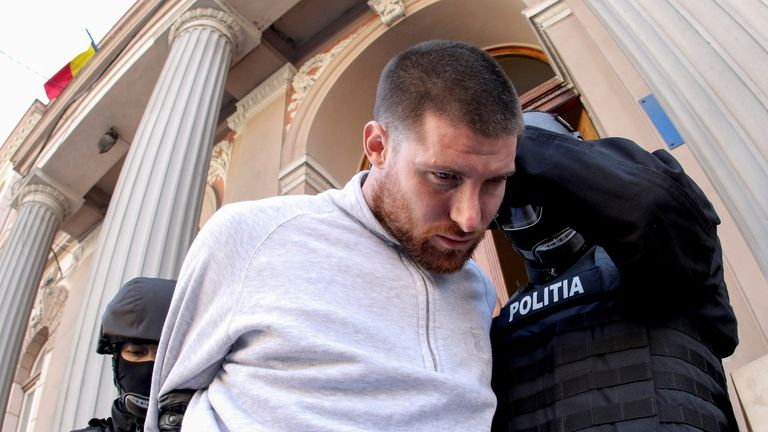 O'Brien was arrested by Romanian officers in the city of Cluj-Napoca