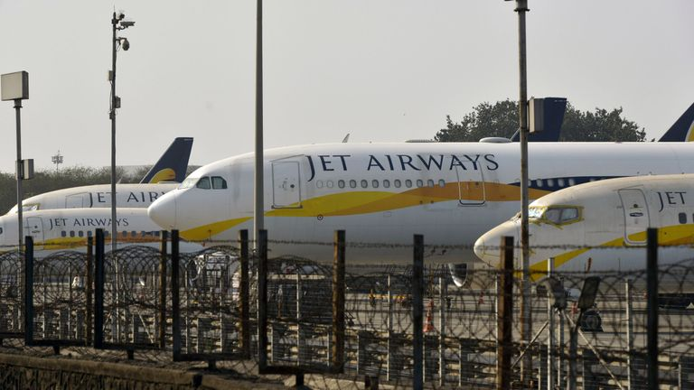 India's Jet Airways aircraft