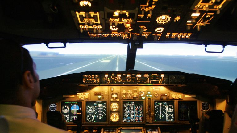 Pilots fly a Jet Airways aircraft