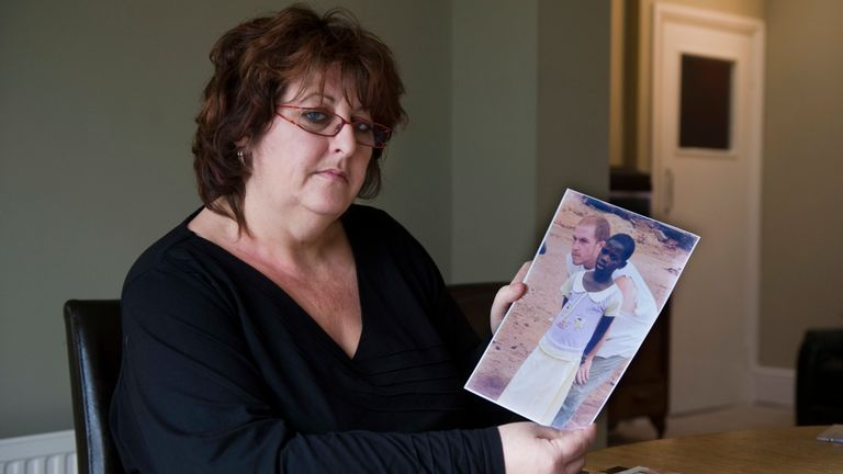 Jo Yirrell lost her son Harry 14 years ago to malaria. Pic: Arthur Edwards