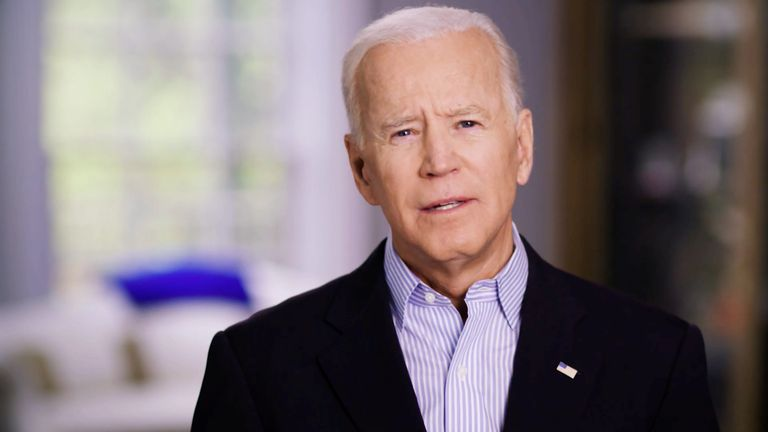 Former U.S. Vice President Joe Biden announces his candidacy for the Democratic presidential nomination