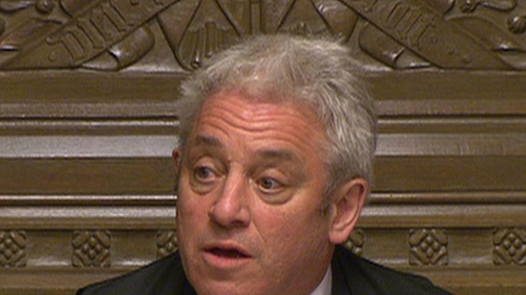 John Bercow announces results of indicative votes on Brexit