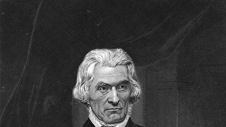 American statesman John Caldwell Calhoun, (1782-1850). A vice-president under John Quincy Adams and Andrew Jackson and a defender of states rights and slavery. Original Publication: People Disc - HC0224 (Photo by Hulton Archive/Getty Images)