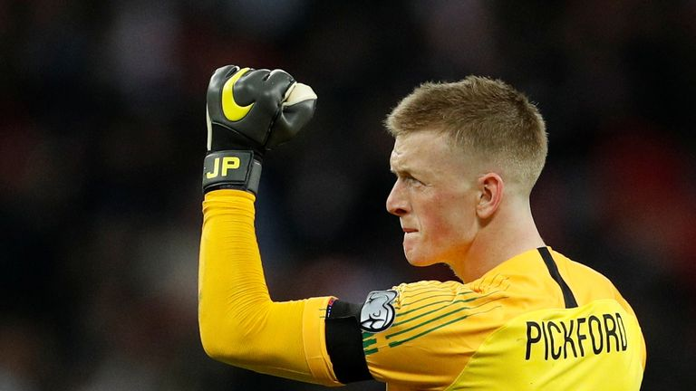 Jordan Pickford is England's number one goalkeeper