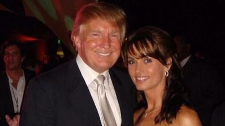 Karen McDougal with Donald Trump