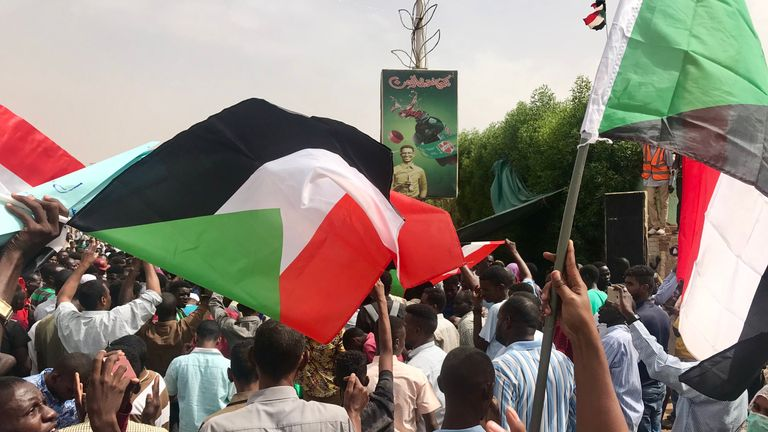 khartoum million man protests thursday