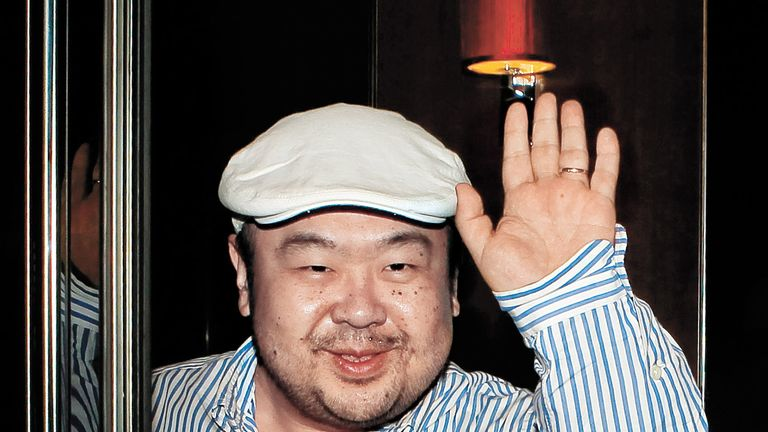 Kim Jong Nam was killed when a nerve agent was smeared on his face