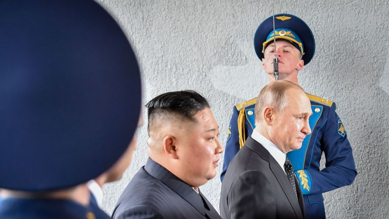Mr Putin said Kim Jong Un was an 'open person'