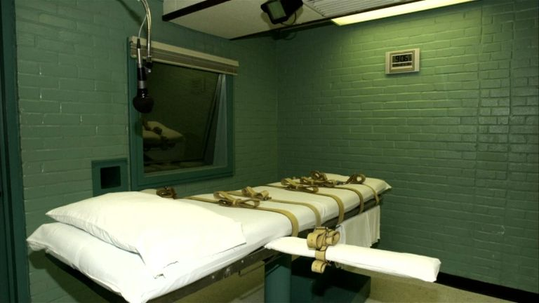 The death chamber in Huntsville, Texas, where John William King was executed