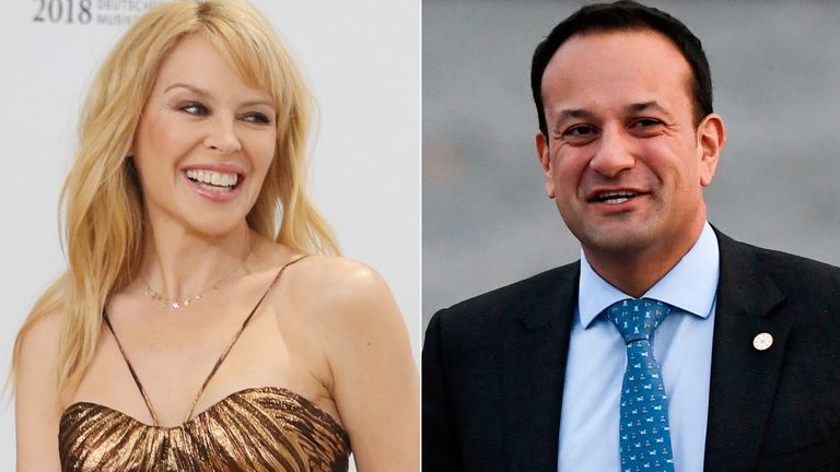 Kylie Minogue and Leo Varadkar