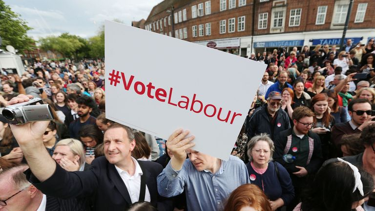 Labour activists took to the streets in 2017 in an effort to get Corbyn into number 10