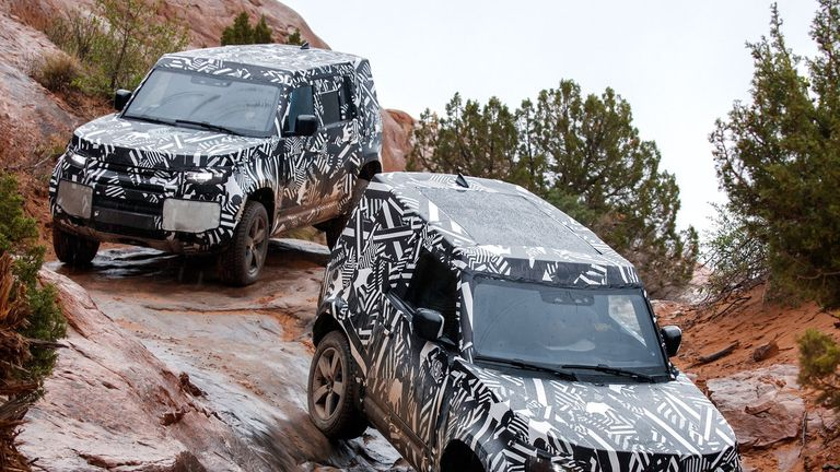 The new Land Rover Defender is currently in a testing phase of development. Pic: JLR