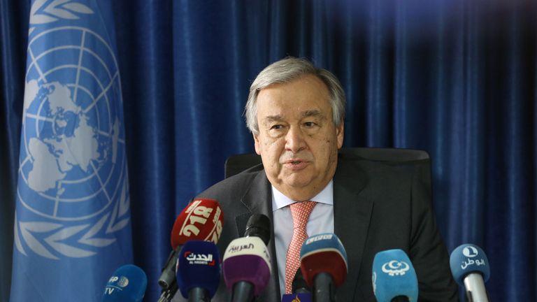 Antonio Guterres raised deep concerns about Libya