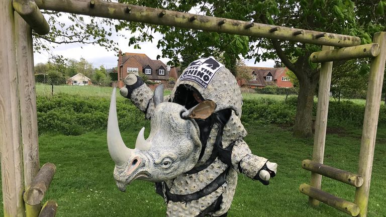 Liz Winton from Oxfordshire will again be competing in the race's most famous costume for Save The Rhino