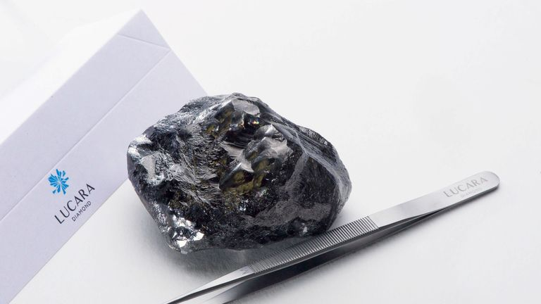 The latest discovery weighs 1,758 carats