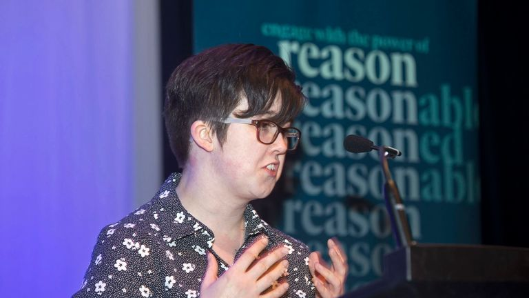 """Undated handout photo issued by Amnesty International of 29-year-old journalist Lyra McKee who was shot and killed when guns were fired and petrol bombs were thrown in Londonderry, Northern Ireland, in what police are treating as a """"terrorist incident"""". PRESS ASSOCIATION Photo. Issue date: Friday April 19, 2019. See PA story ULSTER Unrest. Photo credit should read: Kevin Cooper/Amnesty/PA Wire..NOTE TO EDITORS: This handout photo may only be used in for editorial reporting purposes for the contemporaneous illustration of events, things or the people in the image or facts mentioned in the caption. Reuse of the picture may require further permission from the copyright holder."""