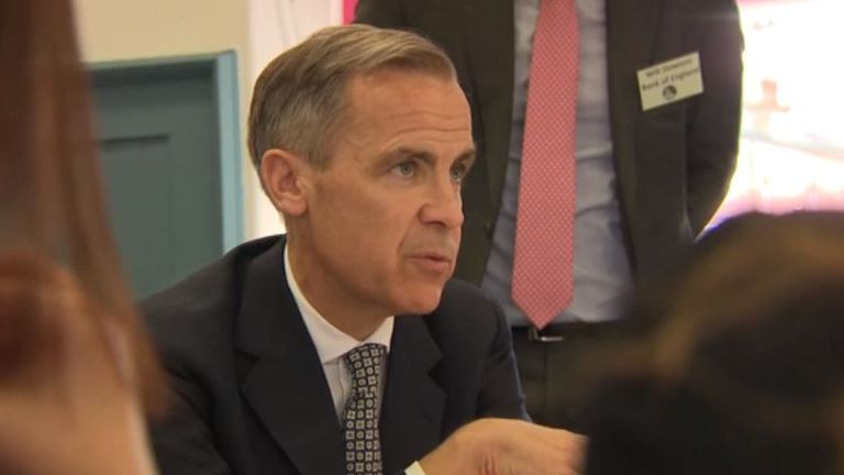 Mark Carney gave his interview while in Glasgow to attend a community meeting