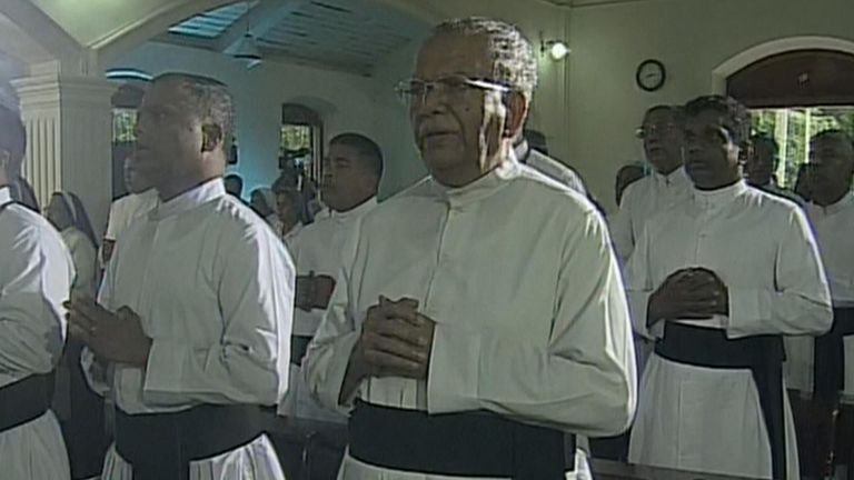 Sunday Mass was televised to the nation from the archbishop's residence