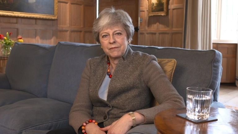 Theresa May releases a video on Twitter on the current Brexit situation.