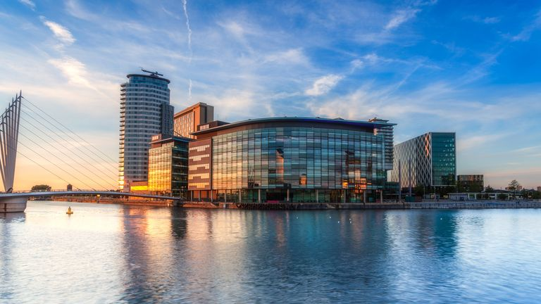 Media City in Salford is home to the BBC, ITV and the University Of Salford